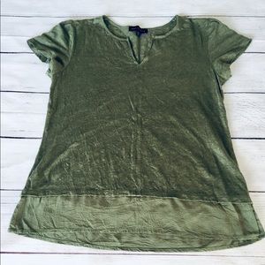 Sanctuary military green linen top S